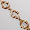 Natural Shell Beads, Diamond Outside Diameter:24x39mm, Inside Diameter:15x21mm, Sold by 16-inch Strand