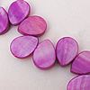 Natural Shell Beads, Teardrop 10x14x3mm Hole:About 1mm, Sold by 16-inch Strand