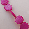 Natural Shell Beads, Flat Round 10x3mm Hole:About 1mm, Sold by 16-inch Strand