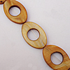 Natural Shell Beads, Horse Eye Outside Diameter:30x20mm, Inside Diameter:11mm, Sold by 16-inch Strand