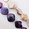 Natural Shell Beads, 16-18mm Hole:About 1mm, Sold by 16-inch Strand
