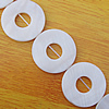 Natural Shell Beads, Donut Outside Diameter:28mm, Inside Diameter:10mm, Sold by 16-inch Strand
