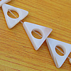 Natural Shell Beads, Triangle Outside Diameter:16x14mm, Inside Diameter:6mm Hole:About 1mm, Sold by 16-inch Strand