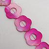 Paint (Spray-paint) Shell Beads, Flower Outside Diameter:28mm Inside Diameter:10mm, Sold per 16-Inch Strand