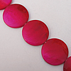 Paint (Spray-paint) Shell Beads, Flat Round 30x4mm Hole:About 1mm Sold per 16-Inch Strand