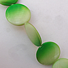 Paint (Spray-paint) Shell Beads, Flat Round 20x3mm Hole:About 1mm, Sold 16-Inch Strand
