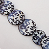 Paint (Spray-paint) Shell Beads, Flat Round 15-30mm Hole:About 1mm, Sold 16-Inch Strand