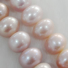 Pearl, cultured freshwater, Button 11-12mm Hole:About 0.1mm,Sold per 16-inch strand.