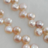 Pearl, cultured freshwater, Button 8x5mm Hole:About 0.1mm,Sold per 16-inch strand.
