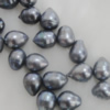 Pearl, cultured freshwater(dye), Teardrop 12x8mm Hole:About 0.1mm,Sold per 16-inch strand.