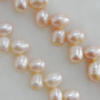 Pearl, cultured freshwater, Teardrop 8x6mm Hole:About 0.1mm,Sold per 16-inch strand.