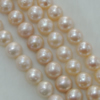 Pearl, cultured freshwater, Round 10-11mm Hole:About 0.1mm,Sold per 16-inch strand.