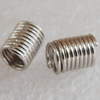 Jewelry Terminators, Cord Tip ends, Iron, Lead-free, 5.0mm, Sold by bag