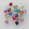 Transparent Acrylic Bead Mix Color, Bicone 12x12mm Hole:2mm, Sold by Bag
