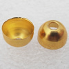 Jewelry Terminators, Cord End Caps, Iron, Lead-free, 6x9mm with 8mm inside diameter, Hole: about 2mm, Sold by bag