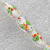 Inner Flower Lampwork Beads, Oval 11x16mm Hole:About 1.5mm, Sold by PC