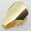 Brass Terminators, Cord Tip/Ends, 14x10x4mm Sold by bag