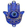 Turkish Resin Pendants, Hand 45x37mm Hole:2.5mm, Sold By Bag