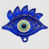 Turkish Resin Pendants, Eye 54x43mm Hole:4mm, Sold By Bag