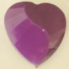 Uv polishing Acrylic Beads, Heart 30x30mm Hole:1.5mm, Sold by Bag