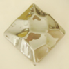 Uv polishing Acrylic Beads, Diamond 29mm Hole:2.5mm, Sold by Bag