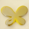Uv polishing Acrylic Beads, Butterfly 46x33mm Hole:3mm, Sold by Bag