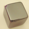 Uv polishing Acrylic Beads, Cube 16mm Hole:2mm, Sold by Bag