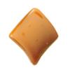 Uv polishing Acrylic Beads, Twist Diamond 29mm Hole:1mm, Sold by Bag