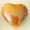 Uv polishing Acrylic Beads, Heart 27x30mm Hole:5mm, Sold by Bag