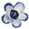 Porcelain Cabochons, No Hole Headwear & Costume Accessory, Flower Size:About 20mm, Sold By Bag