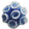 Porcelain Cabochons, No Hole Headwear & Costume Accessory, Flower Size:About 13mm, Sold By Bag