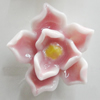 Porcelain Cabochons, No Hole Headwear & Costume Accessory, Flower Size:About 18mm, Sold By Bag