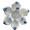 Porcelain Cabochons, No Hole Headwear & Costume Accessory, Flower Size:About 22mm, Sold By Bag