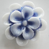 Porcelain Cabochons, No Hole Headwear & Costume Accessory, Flower Size:About 19mm, Sold By Bag