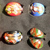 Lampwork Glass Rings, About 20-25mm Hole:18-30mm, Sold by PC