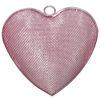Iron Thread Component Handmade Lead-free, Heart 50x50mm, Sold by Bag