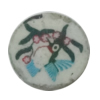 Pottery Clay Cabochons, NO-Hole Jewelry Fingings, Coin 10mm Thick:About 5mm, Sold by Bag