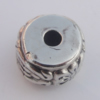 Jewelry findings, CCB plastic European style Beads Antique sliver, Column 10x16mm Hole:4mm, Sold by Bag