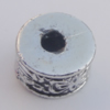 Jewelry findings, CCB plastic European style Beads  Antique sliver, Column 8x12mm Hole:4mm, Sold by Bag