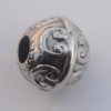 Jewelry findings, CCB plastic European style Beads Antique sliver, 15x17mm Hole:6mm, Sold by Bag
