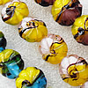 Lampwork Beads, Mix Color Flower 20mm Hole:About 1.5mm, Sold by Group