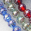 Lampwork Beads, Mix Color Round 12mm Hole:About 1.5mm, Sold by Group