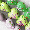 Lampwork Beads, Mix Color Heart 20mm Hole:About 1.5mm, Sold by Group