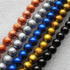 Drawbench Glass Beads, Round, 4mm, Sold per 32-Inch Strand