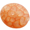 Crackle Acrylic Beads, Frosted Surface Effect, Oval, 24x20x12mm ,Hole:Approx 2mm, Sold by Bag