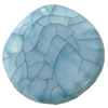 Crackle Acrylic Beads, Frosted Surface Effect, Flat round ,23x6mm ,Hole:Approx 2mm ,Sold by Bag