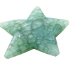 Crackle Acrylic Beads, Frosted Surface Effect, Star, 44x38x8mm ,Hole:Approx 2mm, Sold by Bag