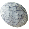 Crackle Acrylic Beads, Frosted Surface Effect, Flat oval ,28x38x15mm ,Hole:Approx 2mm, Sold by Bag