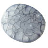 Crackle Acrylic Beads ,Frosted Surface Effect, Flat oval, 25x34x7mm, Hole:Approx 2mm, Sold by Bag