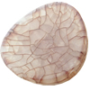 Crackle Acrylic Beads ,Frosted Surface Effect, Flat round ,25x5mm, Hole:Approx 2mm, Sold by Bag